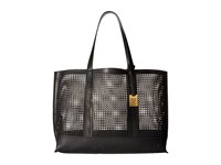 Frye Peyton Perf Tote Black Smooth Full Grain Tote Handbags