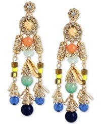 Inc International Concepts M. Haskell For Inc Gold Tone Multi Beaded Dangle Chandelier Earrings Only At Macy's