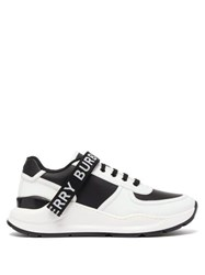 Burberry Ronnie Leather And Shell Trainers White Black
