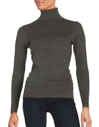Context Long Sleeve Turtleneck Sweater Heather Grey