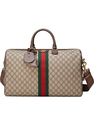 Gucci Ophidia Gg Medium Carry On Duffle Brown