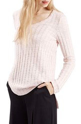 Women's Topshop Ribbed V Neck Sweater Pink