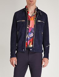 Paul Smith Suede Jacket Navy