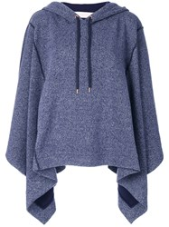 See By Chloe Cape Style Hoodie Women Cotton Polyester S Blue
