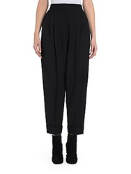 Dolce And Gabbana Cropped Cuffed Pants Black