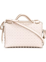Tod's Studded Shoulder Bag Nude Neutrals