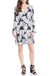 Karen Kane Taylor Bell Sleeve Dress Floral