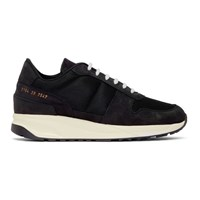 Common Projects Black Nubuck Track Vintage Sneakers