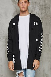 Forever 21 Dont Look Down Graphic Hoodie Black White