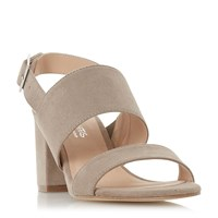 Head Over Heels Jamella Block Mid Heel Strap Sandals Taupe