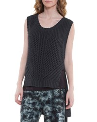 Xcvi Katniss High Low Sweater Vest Coal Grey
