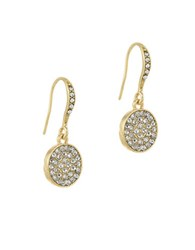 Laundry By Shelli Segal Sunset Boulevard Crystal Pave Disc Drop Earrings Gold