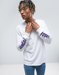 10.Deep Long Sleeve T Shirt With Sleeve Logo White