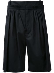 J.W.Anderson Pleated Bermuda Shorts Black
