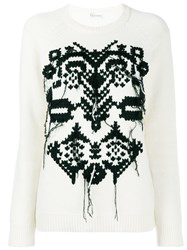 Red Valentino Embroidered Jumper Nude And Neutrals