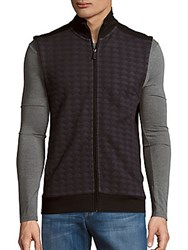 Perry Ellis Diamond Quilted Jacquard Jacket Black
