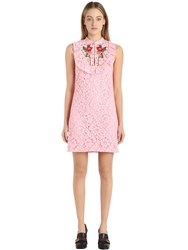 Gucci Flowers Embroidered Cotton Lace Dress