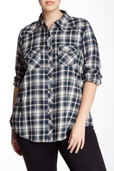 Angie Plaid Flannel Shirt Plus Size Multi