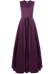 Maison Rabih Kayrouz Draped Flared Gown Purple