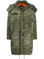 Mr And Mrs Italy Camouflage Print Hooded Parka 60