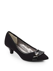 Ak Anne Klein Madalon Logo Buckle Pumps Black
