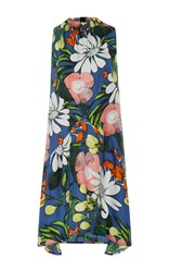 Marni Sleeveless Midi Dress Blue