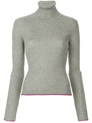 Marco De Vincenzo Turtleneck Jumper Metallic