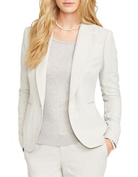 Lauren Ralph Lauren Single Button Poplin Blazer Driver Grey