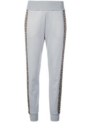 Fendi Piped Logo Track Pants Grey