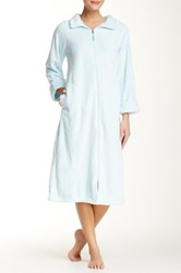 Casual Moments Needle Out Zip Front Robe Blue