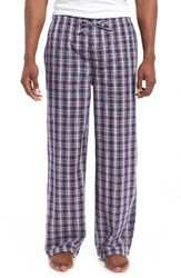 Nordstrom Men's Big And Tall Men's Shop Cotton Lounge Pants Navy Plaid