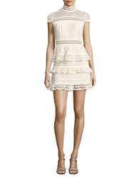 Romeo And Juliet Couture Cap Sleeve Ruffled Lace Dress Canvas