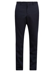 A.P.C. Jude Straight Leg Herringbone Chino Trousers Navy