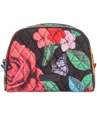 Vera Bradley Medium Zip Cosmetics Case Havana Rose