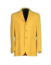 Kiton Suits And Jackets Blazers Men Yellow