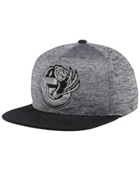 Mitchell And Ness Vancouver Grizzlies Space Knit Snapback Cap Gray Heather