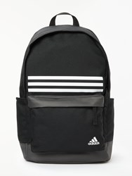 Adidas Classic 3 Stripes Pocket Backpack Black White