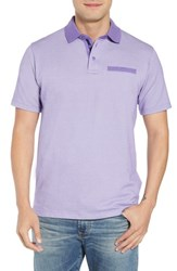 Tailorbyrd Regular Fit Bird's Eye Polo Lavender
