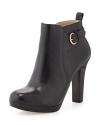 Neiman Marcus Spencer Leather Bootie Black