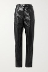 Isabel Marant Xenia Leather Tapered Pants Black