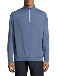 Peter Millar Crown Sport Perth Pullover Midnight Moroccan Pink