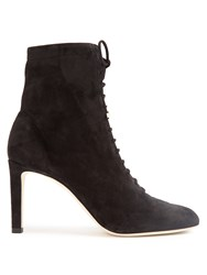 Jimmy Choo Daize Lace Up Suede Ankle Boots Black