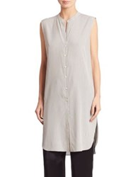 Brunello Cucinelli Striped Button Down Tunic White Black