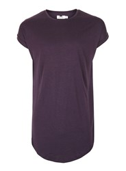 Topman Purple Drop Shoulder Longline Tank Top
