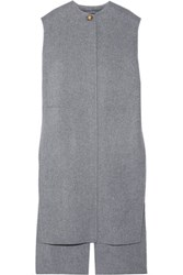 Acne Studios Vento Oversized Wool And Cashmere Blend Vest Gray