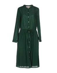 Leon And Harper Knee Length Dresses Green