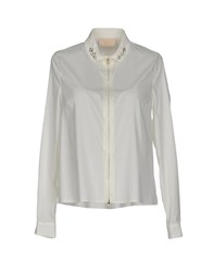Via Delle Perle Vdp Collection Shirts Ivory