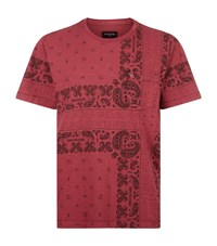 True Religion Bandana Print T Shirt Male Red