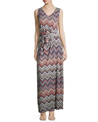 Nydj Charlene Chevron Print Maxi Dress