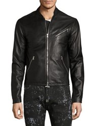 Diesel Black Gold Lionel Leather Jacket Black